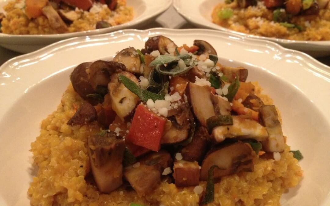 Quinoa risotto met pompoen